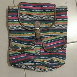 Brand new bohemian Aztec canvas backpack